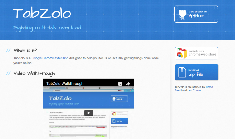 TabZolo - 51 Chrome Browser Extensions to Amplify Your Productivity