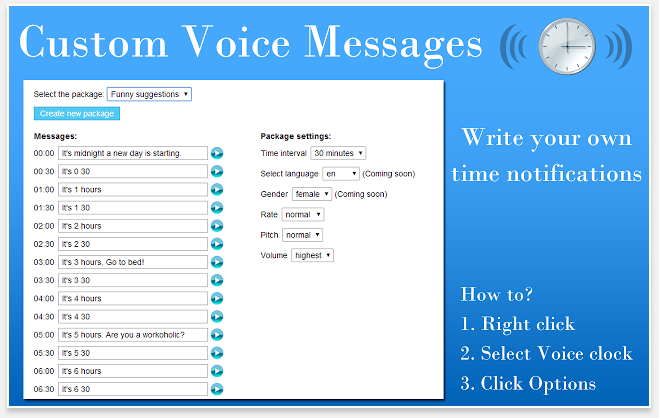 Voice Clock - 51 Chrome Browser Extensions to Amplify Your Productivity