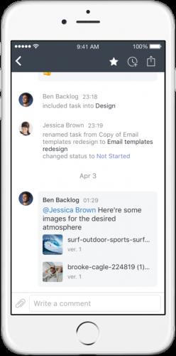 Nuevo diseño de app de Wrike para iOS - app para móvil de Wrike