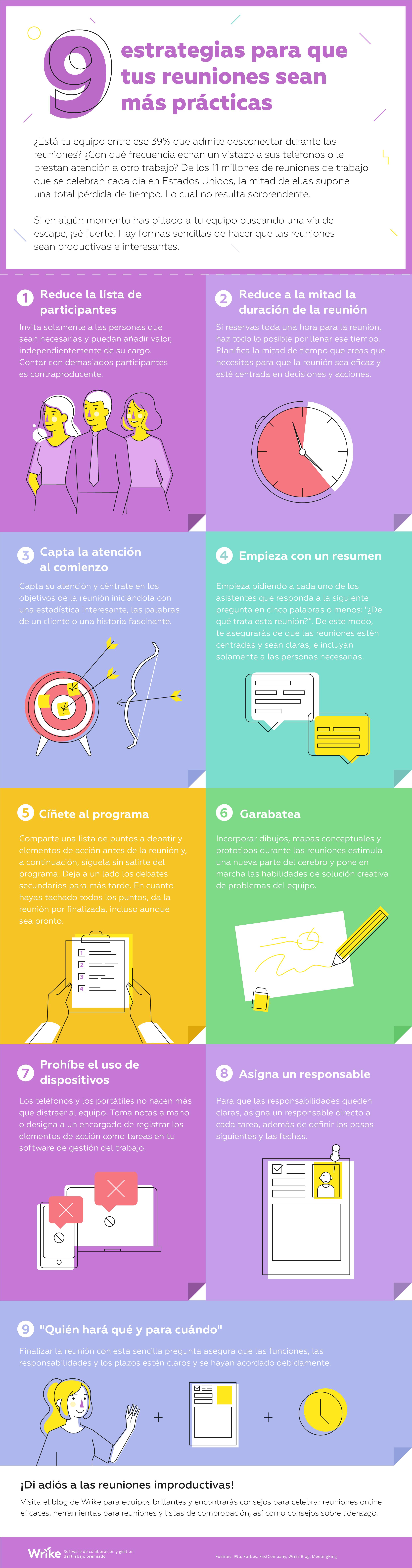 9 estrategias de eficacia probada para hacer que tus reuniones sean muy prácticas(infografía)