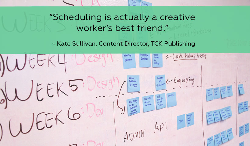 """""""Creative output is essentially the Key Performance Indicator (KPI) of a creative business,"""" explains Kate Sullivan, a human factors psychologist and Content Director of TCK Publishing."""