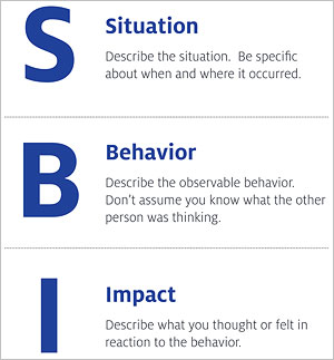 Situation Behavior Impact model of feedback