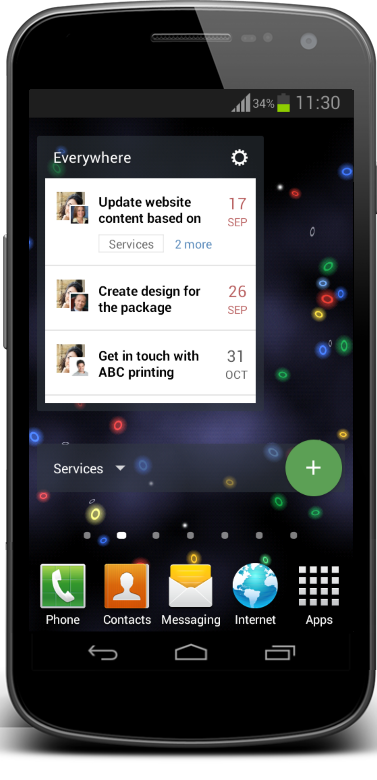 Android App Updated with Dashboards, Time-Tracker, and New Widgets