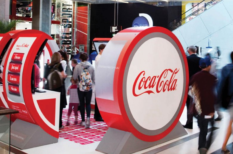 Estands de Coca-Cola