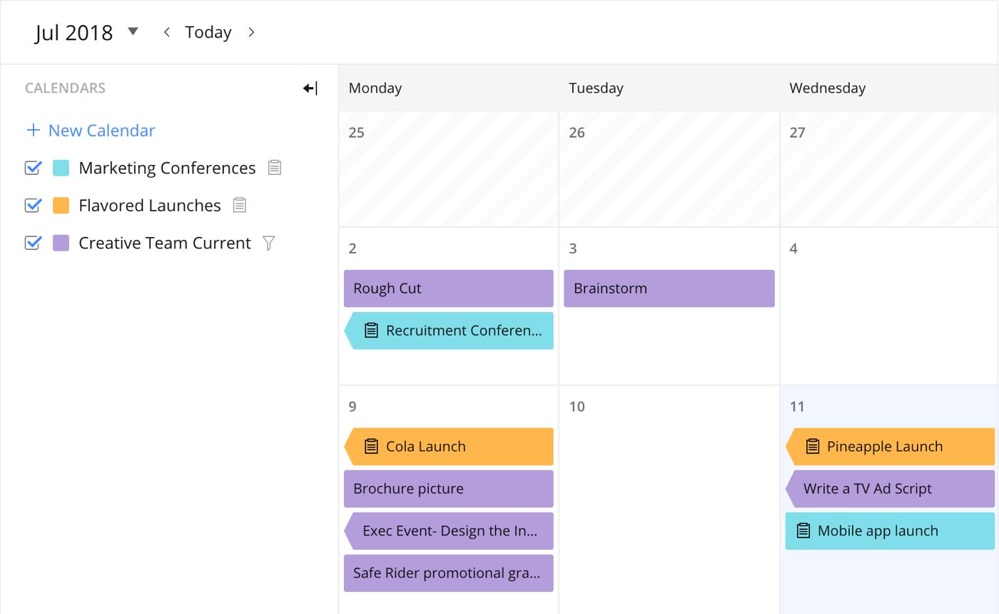 Календарь Wrike