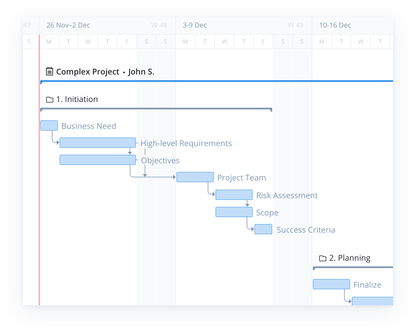 How to Use a Single Gantt Chart for Multiple Projects 2