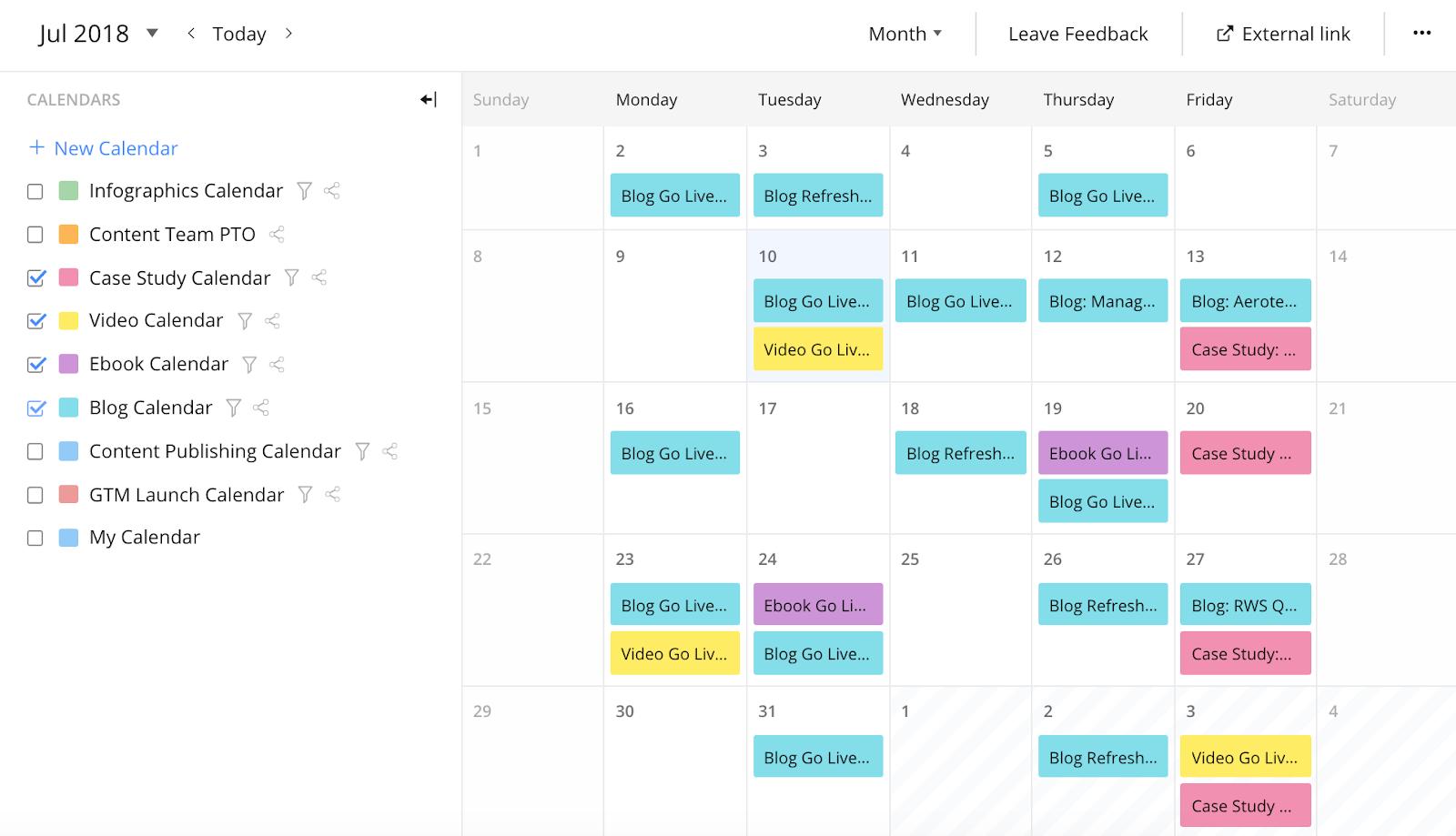 Fonctionnalités utiles au calendrier de votre équipe2