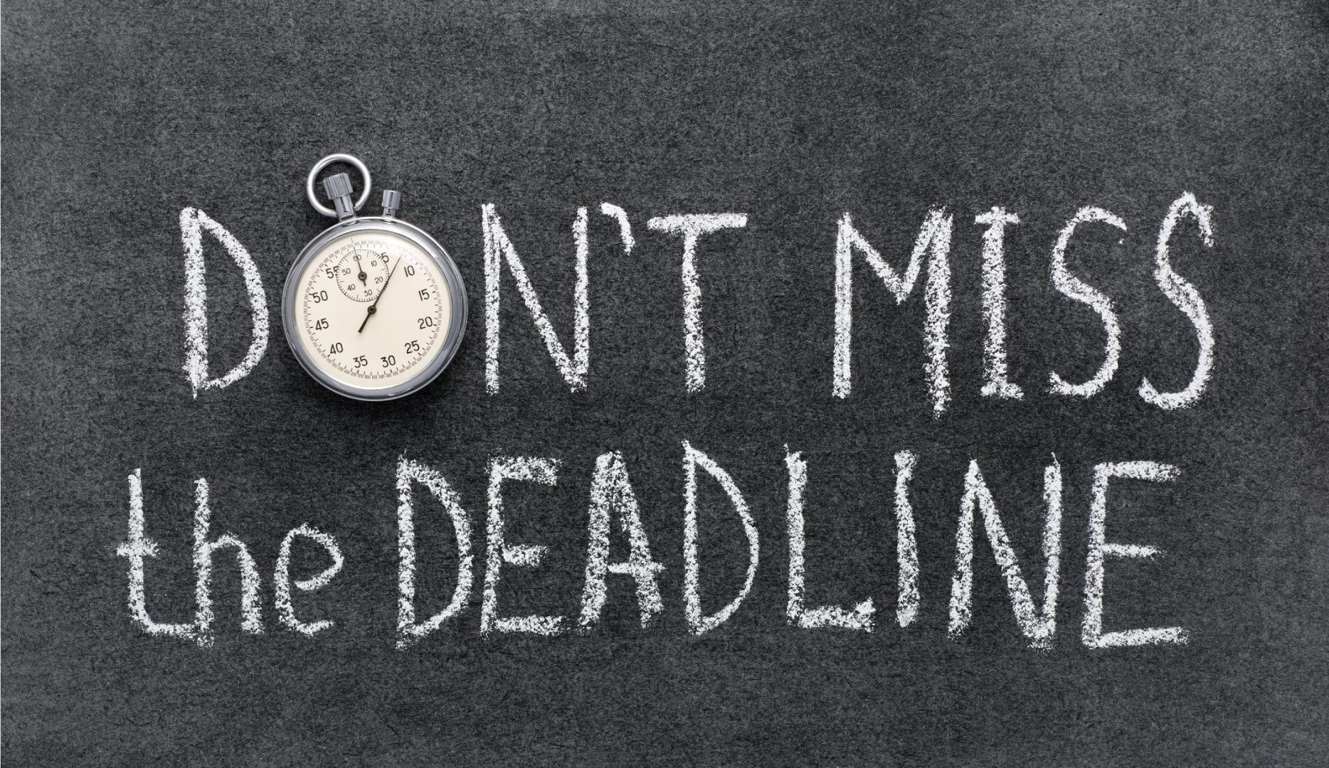 6 consejos para asegurarte de que no volverás a incumplir un plazo