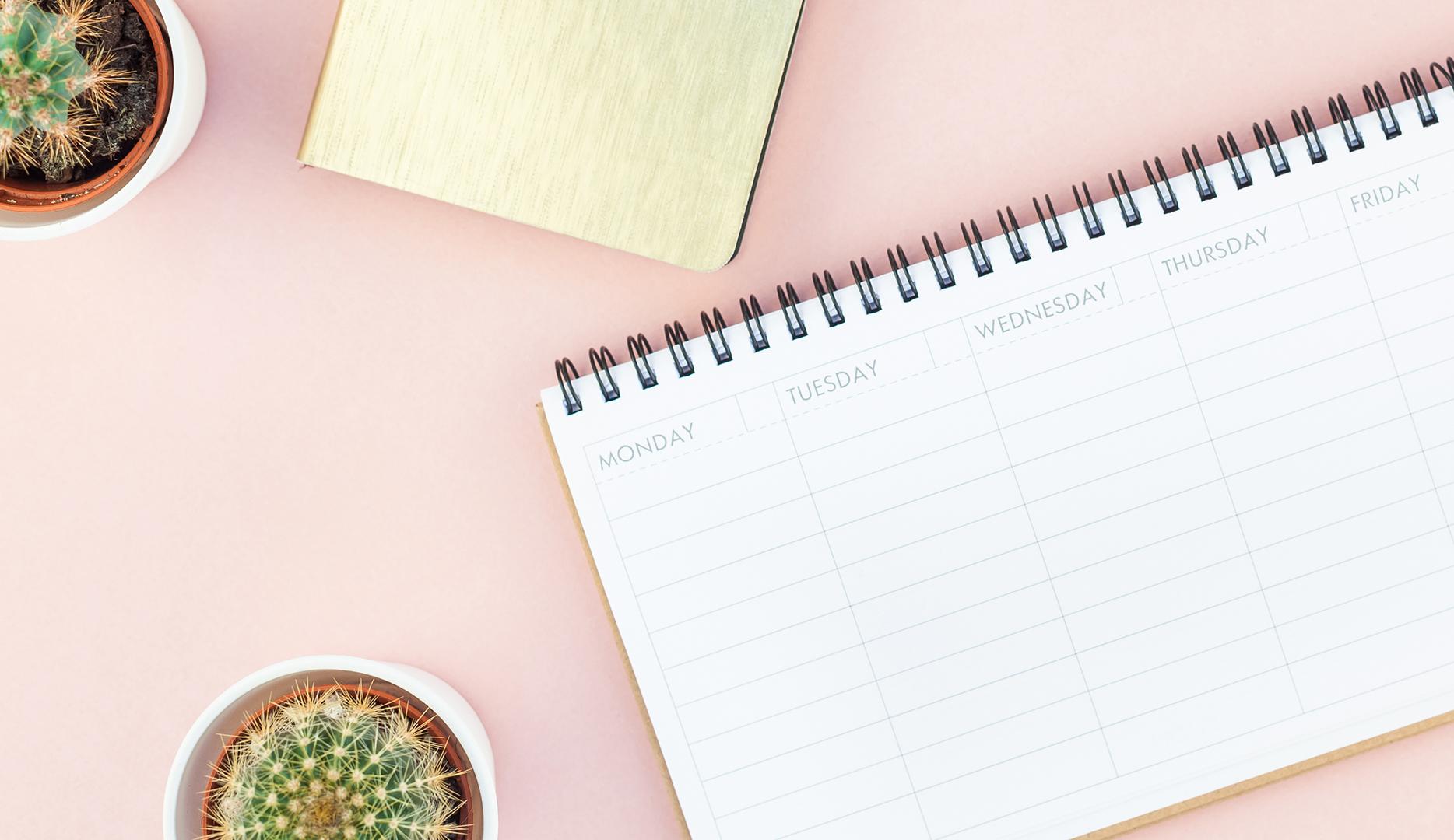 Cómo planificar la semana de trabajo cuando trabajas desde casa