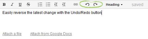 Wrike Live Editor - Undo/Redo
