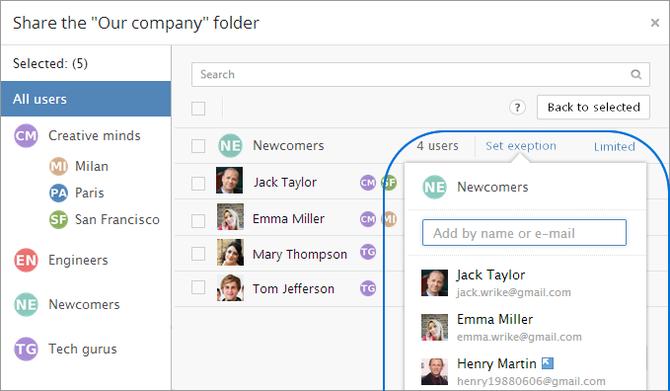 Wrike Enterprise Folder Permissions Setting Exception