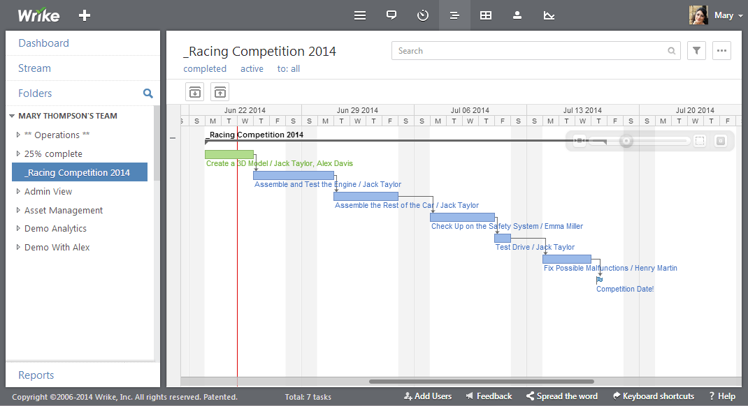 Monash Motorsport uses Wrike and Gantt Charts to plan their race car building timeline
