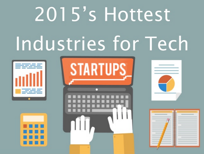 2015's Hottest Industries for Tech Startups