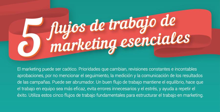 Por qué necesitas un flujo de trabajo de marketing (infografía)
