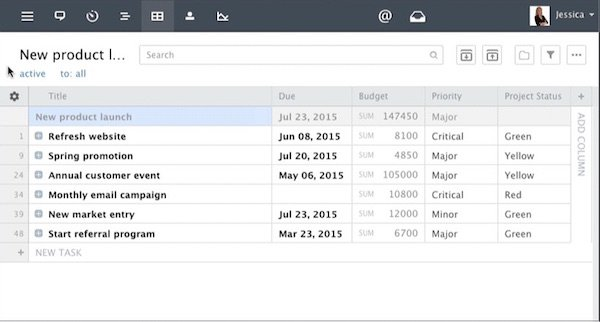 Table View Improvements for Better Executive Reporting