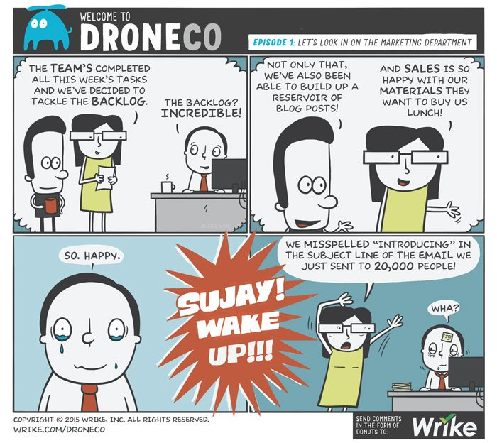 The Marketing Manager's Nightmare (A DroneCo Comic)