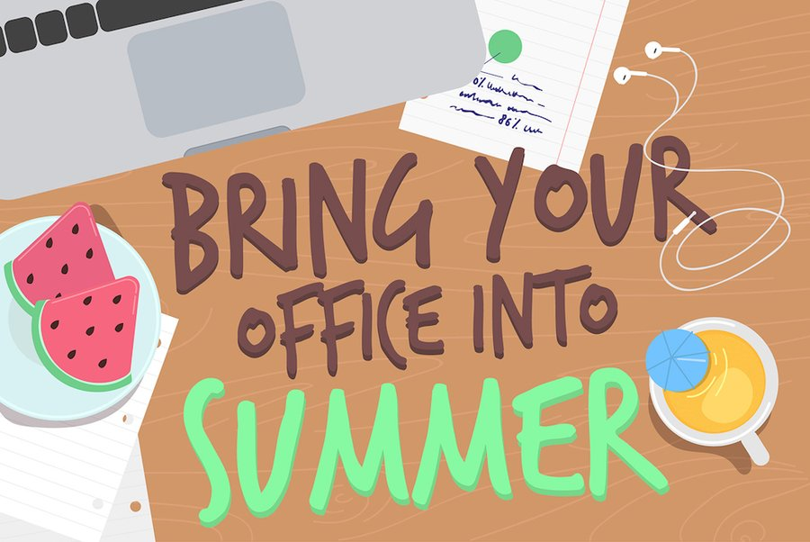 How to Enjoy Summer in the Office (Infographic)