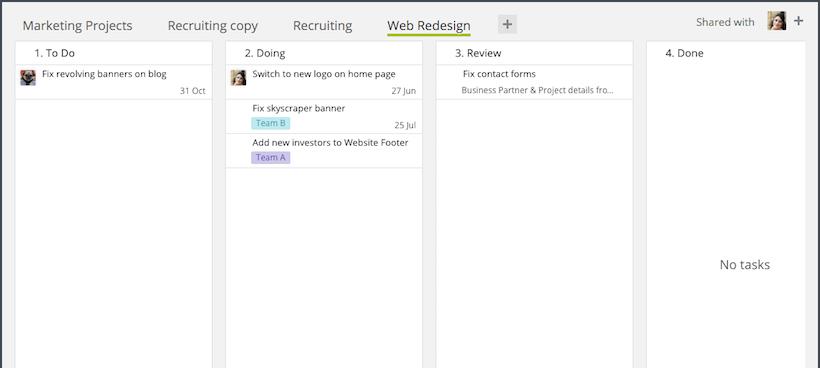 How to Create a Kanban Board in Wrike Using Custom Statuses & Dashboard Widgets
