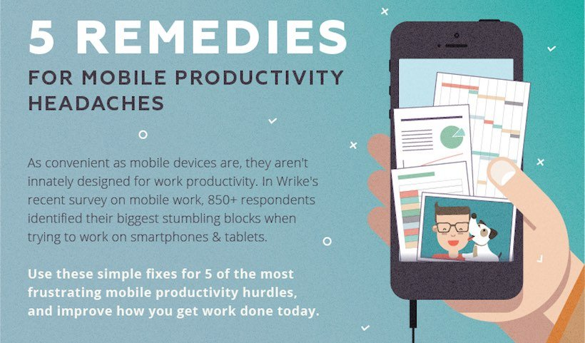 5 Remedies for Mobile Productivity Headaches (Infographic)