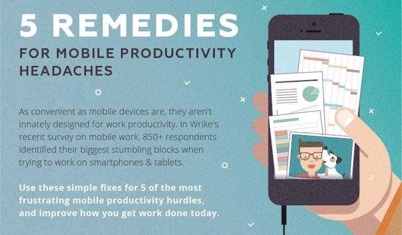 Cinco remedios para los dolores de cabeza que ocasiona la productividad móvil (infografía)