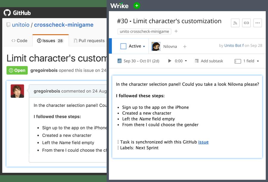 Wrike интегрируется с Github