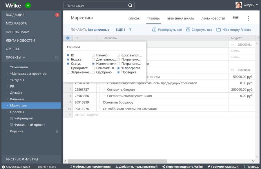 Использование номеров задач для организации рабочего процесса