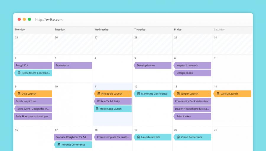 Nuevos Calendarios de Wrike: una ventana unificada en tiempo real para toda la empresa
