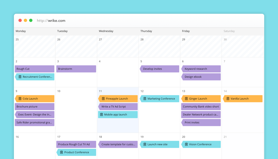New Wrike Calendars: A Unifying, Real-time Window Across Your Business