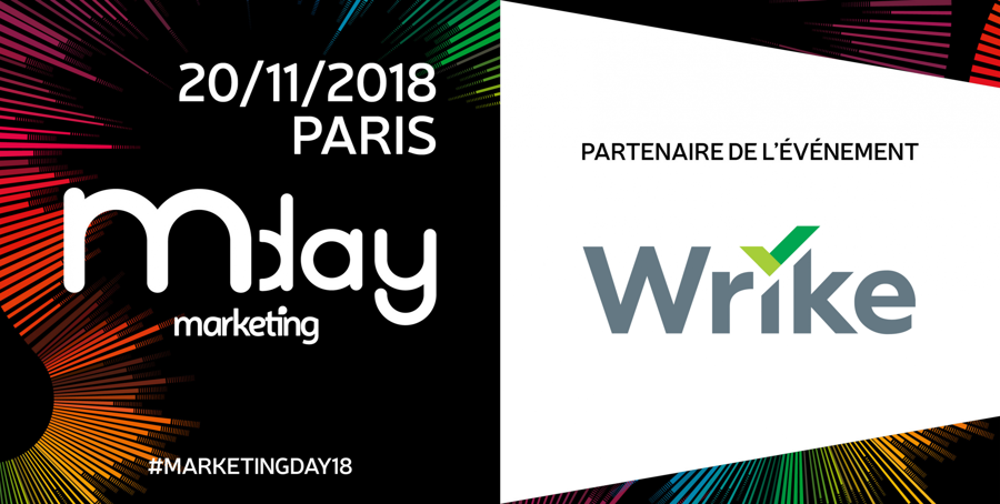 Wrike, partenaire de l'édition 2018 du Marketing Day !