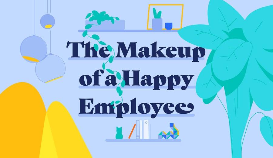 Анатомия счастливого сотрудника (инфографика)