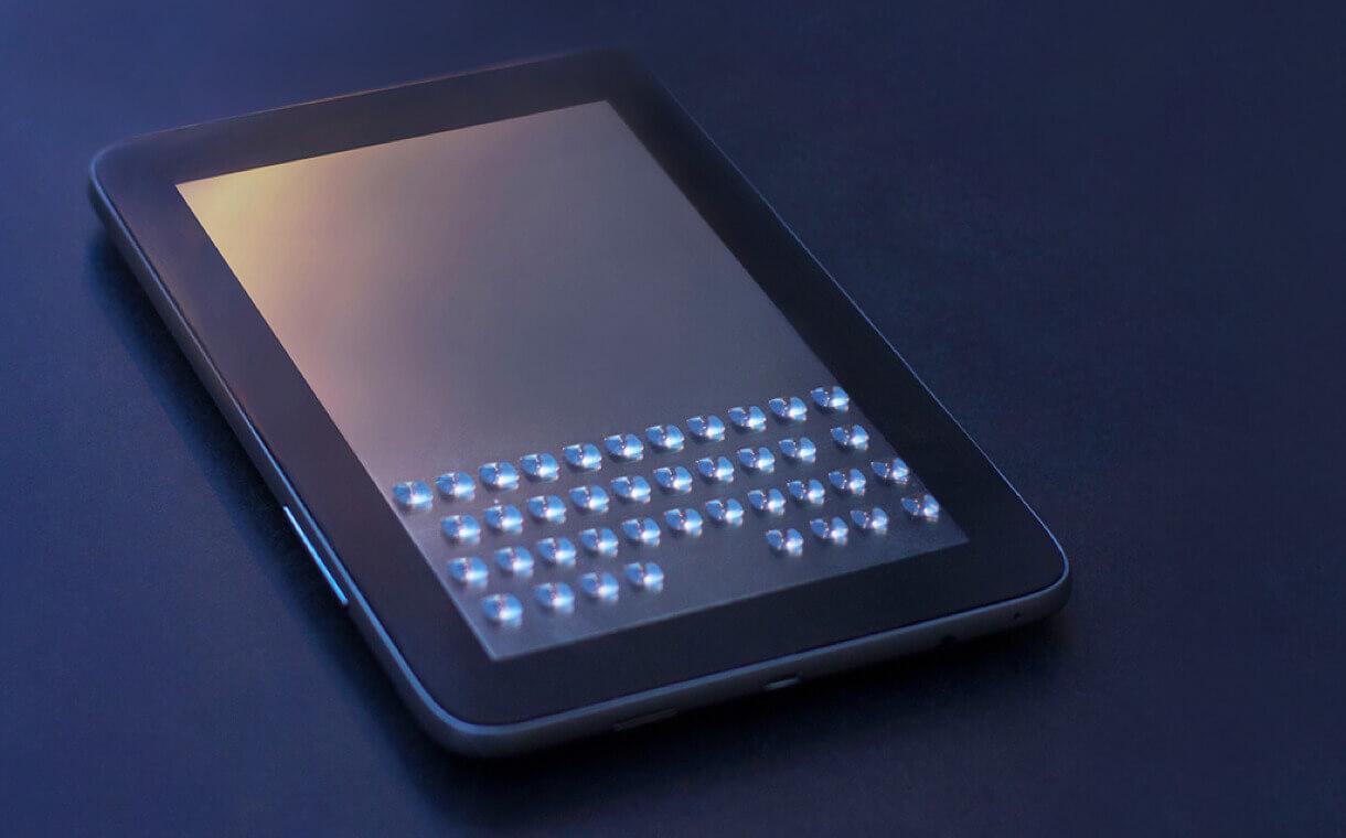 An example of a Tactus screen