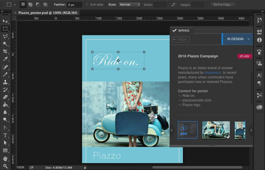 Adobe Creative Cloud Extension - Wrike