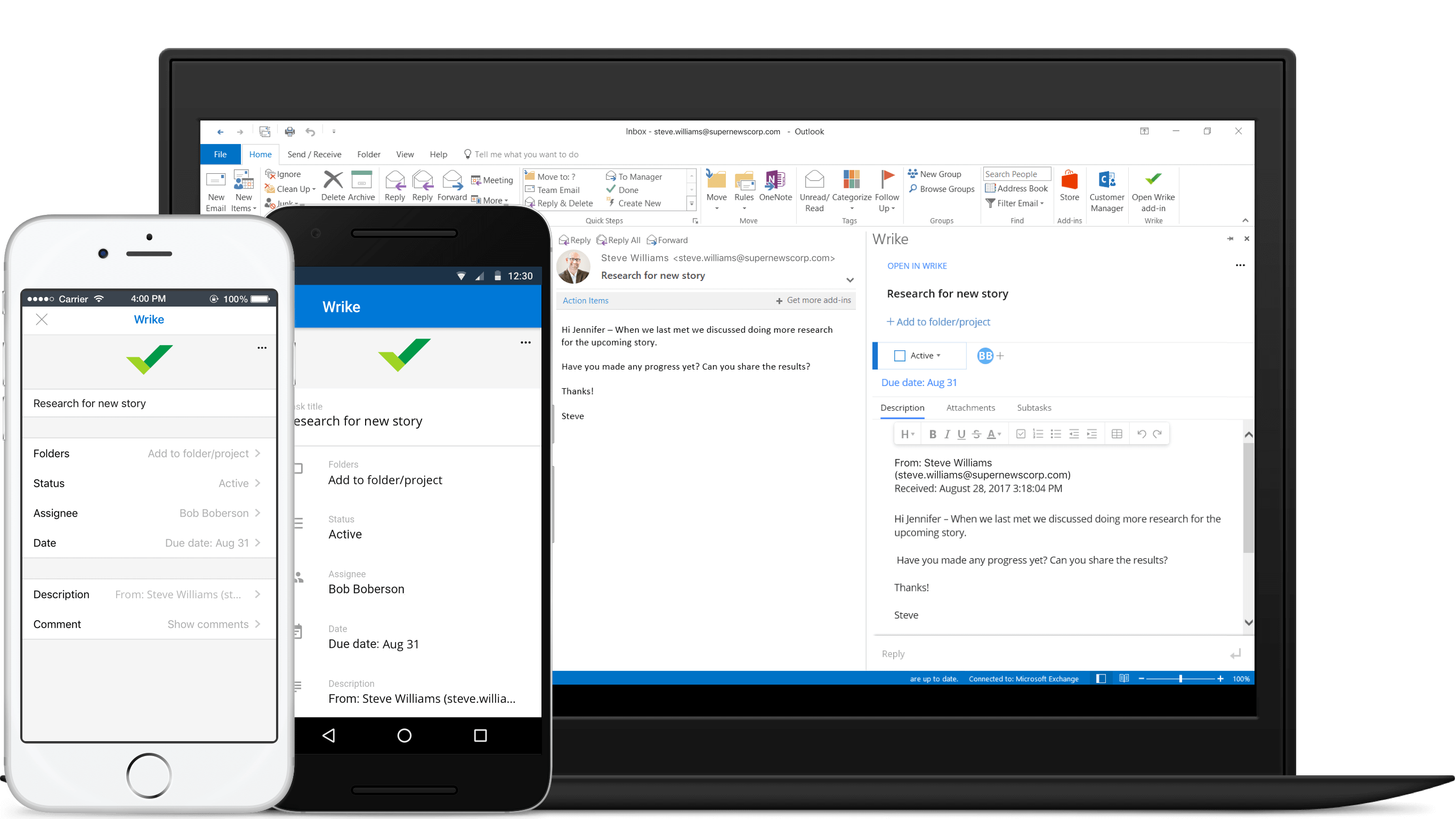 Wrike for Outlook