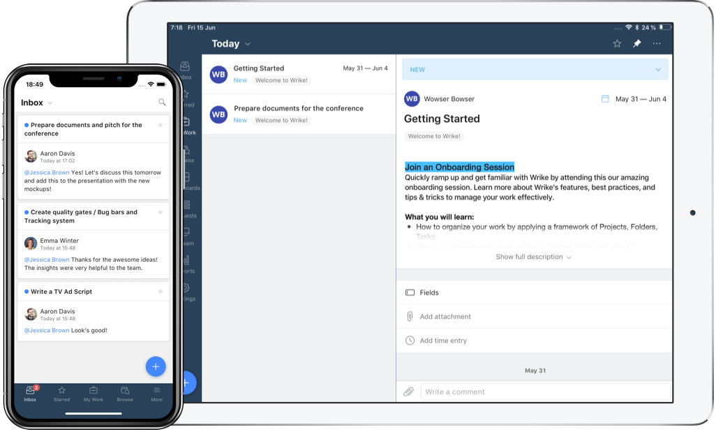 Wrike Ios App For Project Management