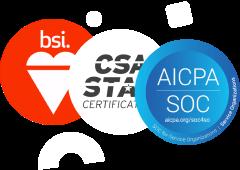 ISO/IEC 27001, ISO/IEC 27017, ISO/IEC 27018, ISO/IEC 27701 and CSA STAR Level 2