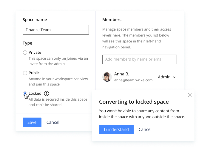 Confidential, trusted workspaces