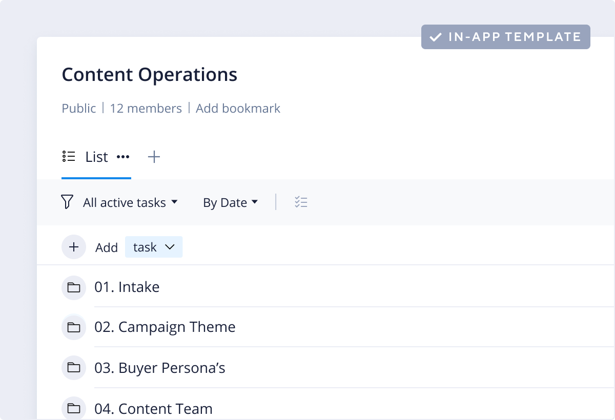 Content Operations Template
